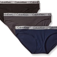 Calvin Klein Women's Radiant Cotton 3 Pack Bikini