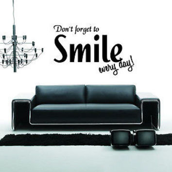 You Make Me Smile quote wall sticker quote decal wall art decor 4553