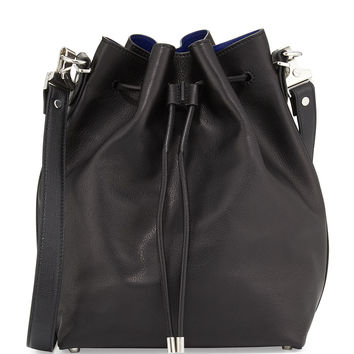 Large Bucket Bag w/Pouch, Black/Ultramarine - Proenza Schouler