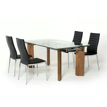 Modrest Helena Modern Extendable Glass Dining Table