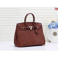 Hermes Fashion Women Shopping Leather Handbag Tote Shoulder Bag 7#