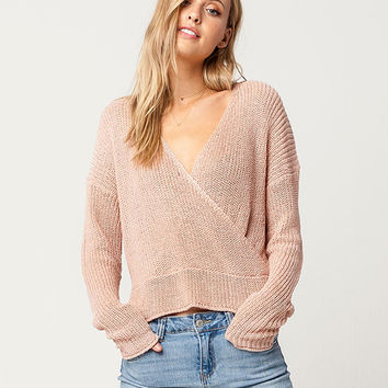 IVY & MAIN Surplice Womens Sweater | Pullovers