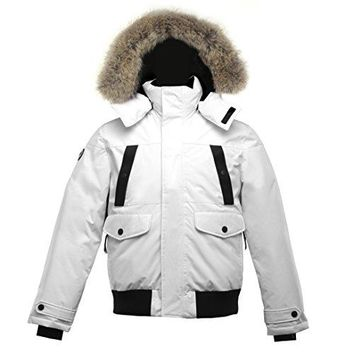 Triple F.A.T. Goose SAGA Collection | Norden Mens Hooded Goose Down Jacket Parka with Real Coyote Fur  fashion bags
