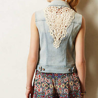 Pilcro Laced Denim Vest