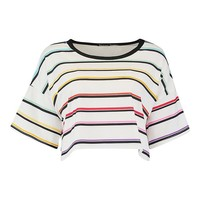 Rainbow Stripe T-Shirt | Boohoo