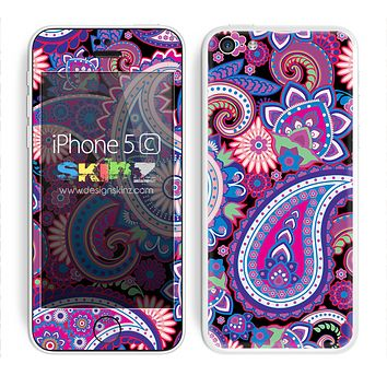 Bright Colored Paisley Pattern V1 Skin For The iPhone 5c