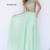 Sherri Hill High Neckline Beaded Gown 11220