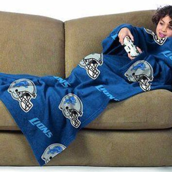 Detroit Lions Youth Kids COMFY THROW Blanket with Sleeves NEW