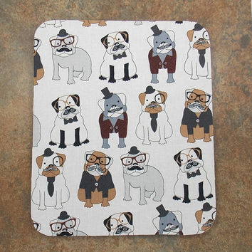 Free Shipping Pug Mouse Pad Teacher Mousepad Dog Mouse Pad Computer Accessory Office Decor Pug Decor Dogs Pugs With Glasses Doggie Mouse Pad