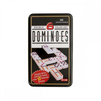Double 6 Color Dot Dominoes Game Set OD851