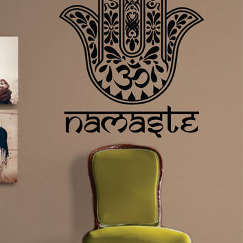 Namaste Hamsa Hand Version 1 Decal Sticker Wall Vinyl