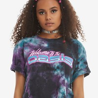 Ready Player One Welcome To The OASIS Tie Dye Girls Crop T-Shirt