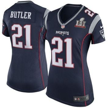 Men's New England Patriots Malcolm Butler Nike Navy Blue Game Jersey