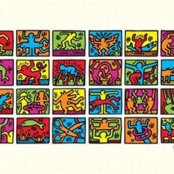 Posters: Keith Haring Poster Art Print - Retrospect (28 x 20 inches)