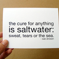 the cure for anything is saltwater card / mini by letterhappy