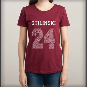 Stilinski 24 Quote Teen Wolf Beacon Hills Lacrosse White ink Women Tee Tshirt