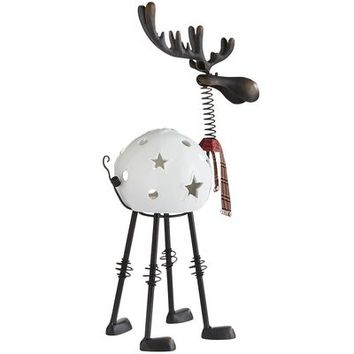 Bobblehead Reindeer Tealight Holder - Large