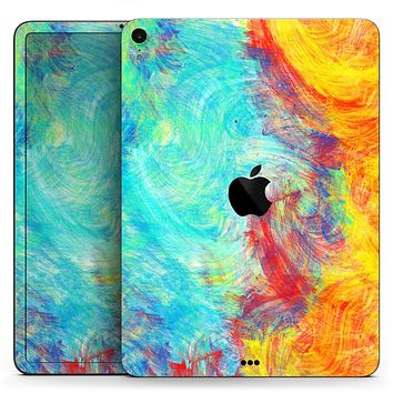 "Vibrant Colored Messy Painted Canvas - Full Body Skin Decal for the Apple iPad Pro 12.9"", 11"", 10.5"", 9.7"", Air or Mini (All Models Available)"