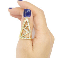 Golden Triangle Shape Ring