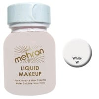 Mehron Liquid Face Paints - White W (1 oz)