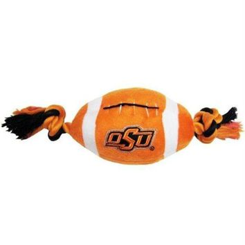 PEAPYW9 Oklahoma State Cowboys Plush Football Pet Toy