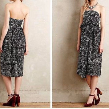 Anthropologie $295 Tied Barcelona Dress by 4.collective Sz 10 - NWT