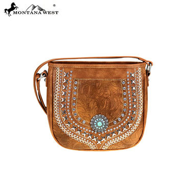 Vegan Western Concho Crossbody Purse