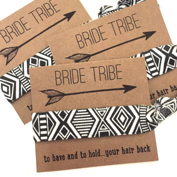 Bachelorette Hair Tie Party Favors // Bride Tribe To Have And To Hold Your Hair Back