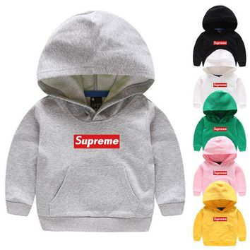 DCCKUN3 SUPREME  baby  Long Sleeve Hedging Pullover Sweater