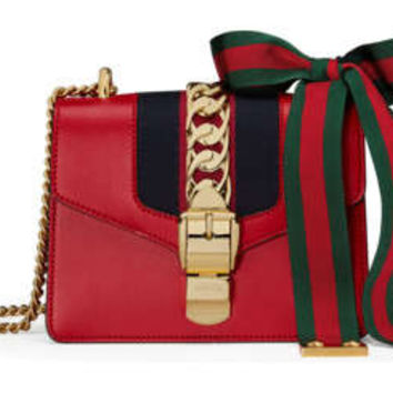 Gucci Sylvie leather mini chain bag