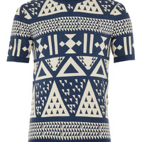 Triangle Short Sleeve Jumper - Patterned Jumpers - Men's Jumpers & Cardigans - Clothing - TOPMAN