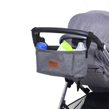 stroller organiser stroller bag hanging basket baby storage bag stroller accessories diaper bag backpack linen high quality