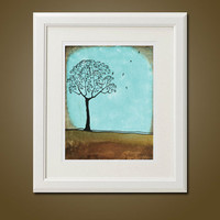 Standing with the Birds  8 x 10 Modern by natureatitsbest on Etsy