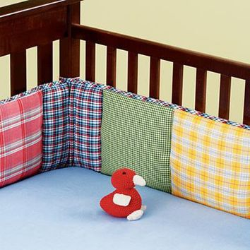 The Land of Nod: Baby Crib Bedding: Baby Crib Plaid Crib Bedding in Crib Bedding