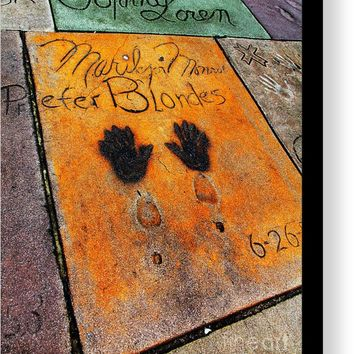 Hollywood Walk Of Fame Marilyn Monroe 5d29039 Canvas Print