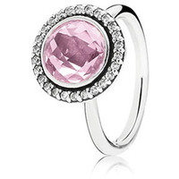 Authentic Pandora Jewelry - Brilliant Legacy Ring Pink CZ
