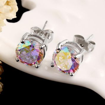 New Style Color Earrings Korean Small Fresh Creative 6MM Fashion Earrings &  Pendant Necklace Hot selling