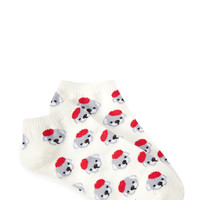 Puppies in Berets Ankle Socks