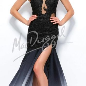 Lace Applique Ombre Evening Dresses by Mac Duggal