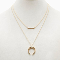 Crescent Layered Necklace | Wet Seal