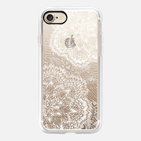 White love mandala iPhone 7 Carcasa by Julia Grifol Diseñadora Modas-grafica | Casetify