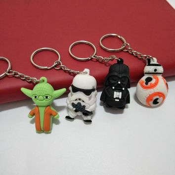 Star Wars key chain stra wars the last of the jedi soft plastic people hang small commodities