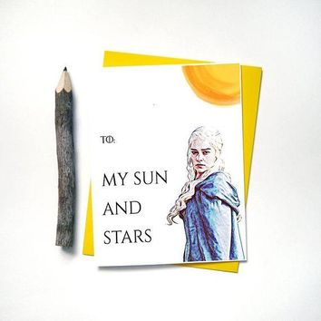 Game of Thrones Daenerys Targaryen Khaleesi Mother of Dragons Funny Anniversary Card Valentines Day Card