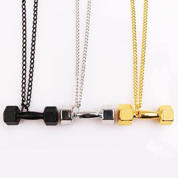 Motivational Dumbell Pendant Necklaces