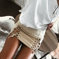 Women's Fashion Slim Mini Skirt [10369863181]