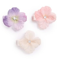 PLH Bows & Laces Flower Hair Clips (Set of 3)