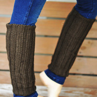 Nice And Cozy Leg Warmers: Olive | Hope's