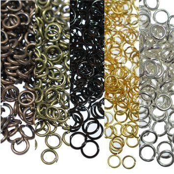 200PCS Jump Rings Metal Open Jewelery Finding 6 8 10mm Connectors DIY Jewelry Making