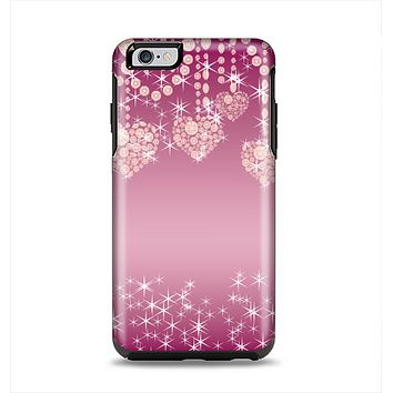 The Pink Sparkly Chandelier Hearts Apple iPhone 6 Plus Otterbox Symmetry Case Skin Set