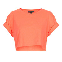 Petite Roll Back Tee - Petite -New In This Week- New In - Topshop